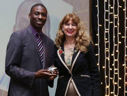 award with mayor